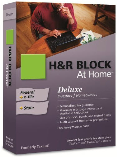 H&R Block at Home Software 2011 2012