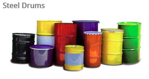 Colored steel drums