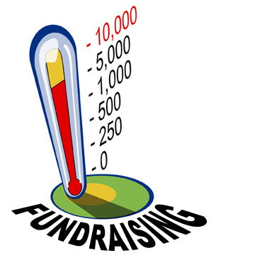 Fundraising thermometer - amount of money